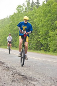 Unicycle road race across Nova Scotia