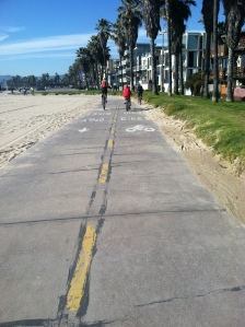 Passing slower two wheel contraptions on the bike path in Santa Monica