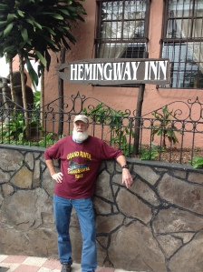 Hemingway outside of his place in San Jose