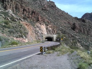 View of the Tunnel before I worked up the courage to race through.