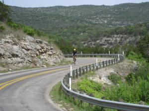Ascending the second hill on 337