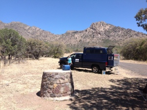 Camped at a picnic area outside of Marfa