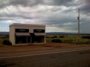 Marfa Prada Shoe store in the middle of no where