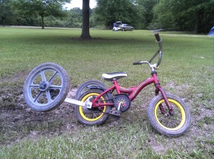Off road training wheels