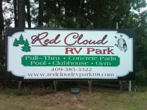 Red Cloud RV Park a very friendly and pleasant place stay.