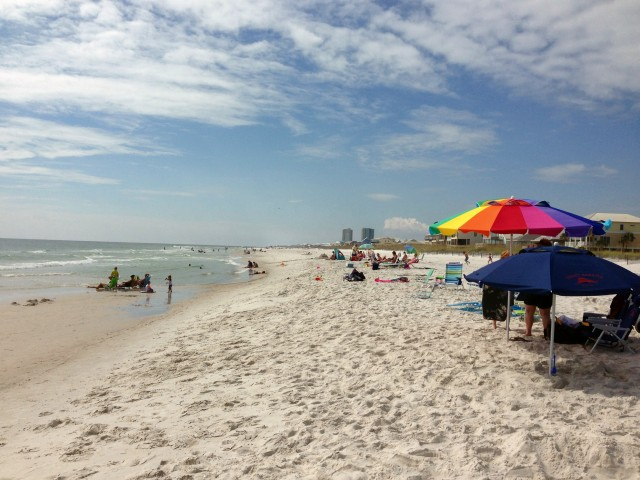 Gulf Shores Beach.  Can you blame us?